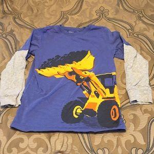 🛑 Boys Long Sleeve Construction Truck Top